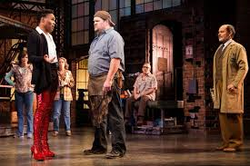Acceptance does not happen instantly in Kinky Boots. Lola and the workers have a hard time co-existing.