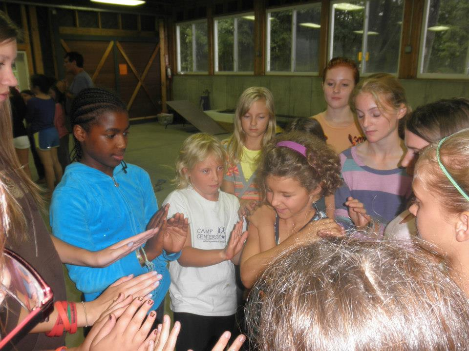 Campers learning to trust each other (Photo courtesy of Camp CenterStage)
