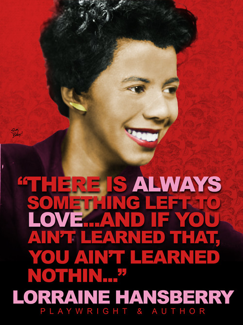 Playwright Lorraine Hansberry..