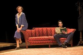 Physical and emotional distance between mother and son in William's The Glass Menagerie.