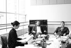 Daniel Craig, Rachel Weisz and Rafe Spall rehearse the recent successful Broadway revival of Betrayal by Harold Pinter.