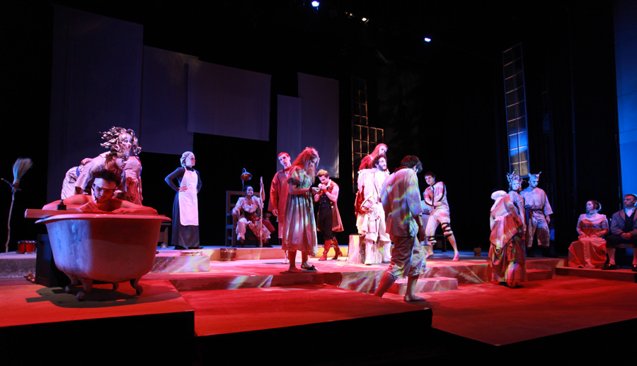 A big show like Marat/Sade offers young theatre artists a lot of opportunity.