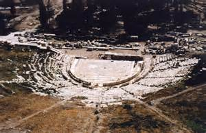 The Theatre of Dionysus in Athens.