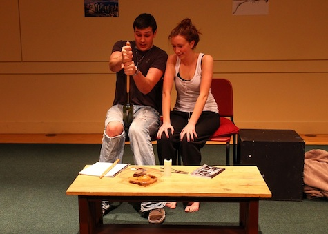 A staged reading with some production elements can be very useful.
