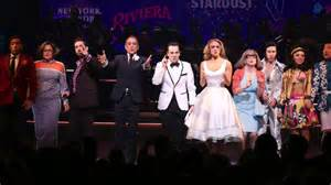 Honeymoon n Vegas opening night curtain call on Broadway.