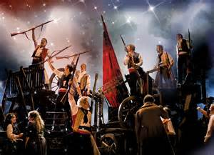 Les Miserables continuously uses stage dynamics to support the emotions, actions, and themes of the musical.